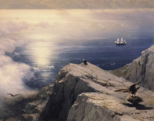 Ivan_Constantinovich_Aivazovsky_-_A_Rocky_Coastal_Landscape_in_the_Aegean_with_Ships_in_the_Distance_detail.jpg
